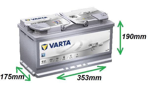 Varta SILVER AGM 12V/95Ah 850A (595901085) Štart-Stop