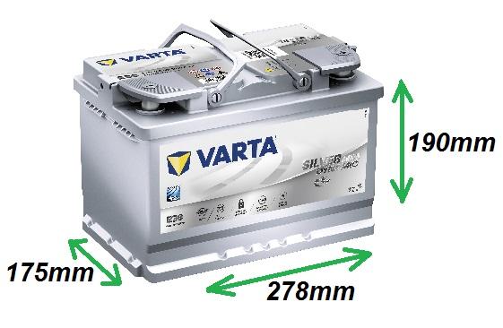 Varta SILVER AGM 12V/70Ah 760A (570901076) Štart-stop