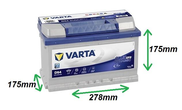 Varta BLUE EFB 12V/65Ah 650A (565500065) Štart-Stop