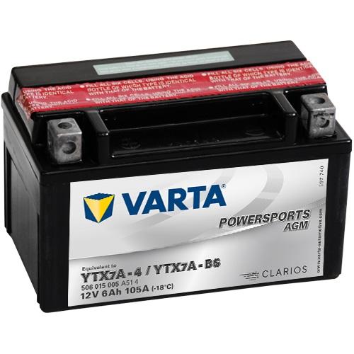 12V/6Ah 50A Varta 506015005 AGM