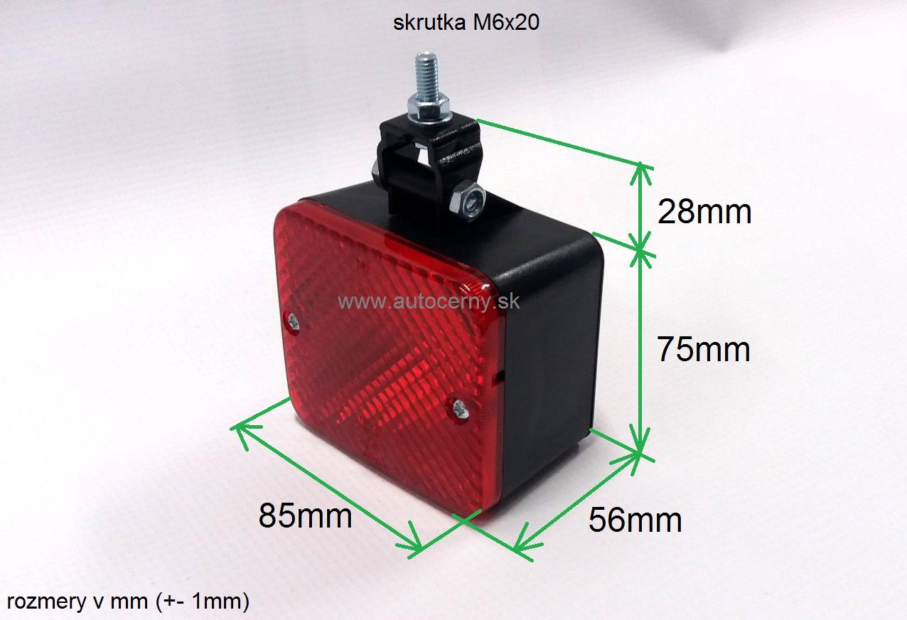 Hmlovka červená (85x75mm) s bočným držiakom 1ks