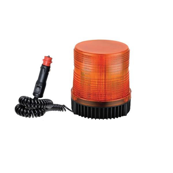 Maják oranžový stroboskový magnetický 12/24V