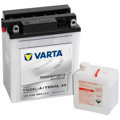 12V/12Ah 120A Varta 512013012