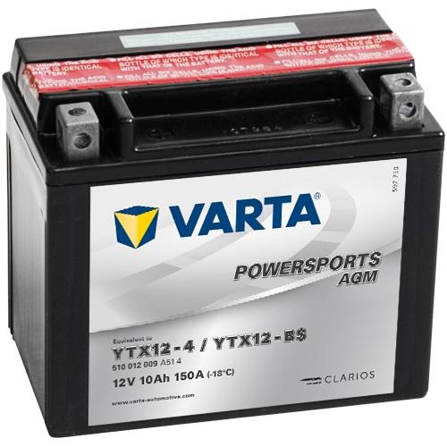 12V/10Ah 90A Varta 510012009 AGM