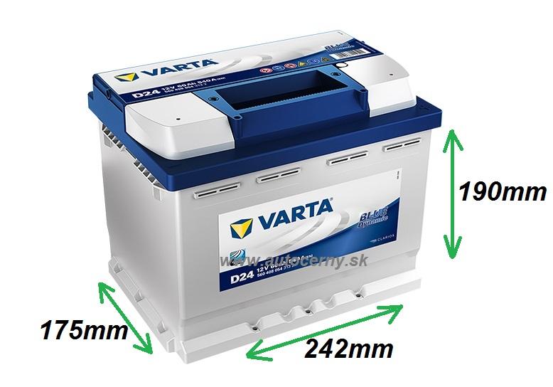 Varta Blue 12V/60Ah - 540A (560408054) D24