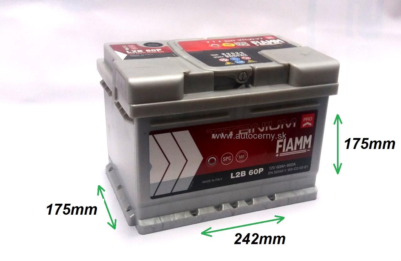 Fiamm Titanium 12V/60Ah 600A (L2B 60P)