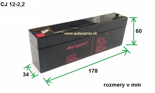 Záložná batéria CJ 12-2.2 (12V/2,2Ah) VRLA gelová