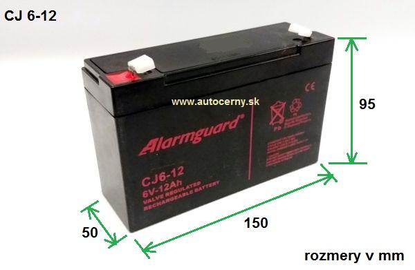 Záložná batéria CJ 6-12 (6V/12Ah) VRLA gelová