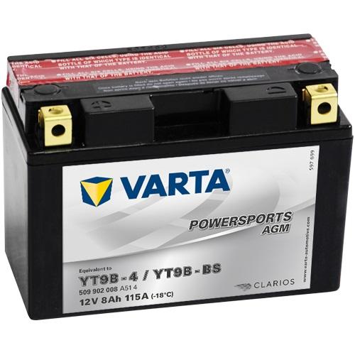 12V/9Ah 80A Varta 509902008 AGM