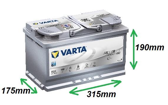 Varta SILVER AGM 12V/80Ah 800A (580901080) Štart-Stop