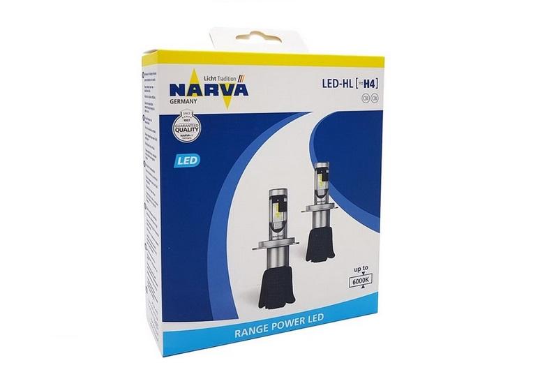 LED H4 Narva 12V 6000k (sada)