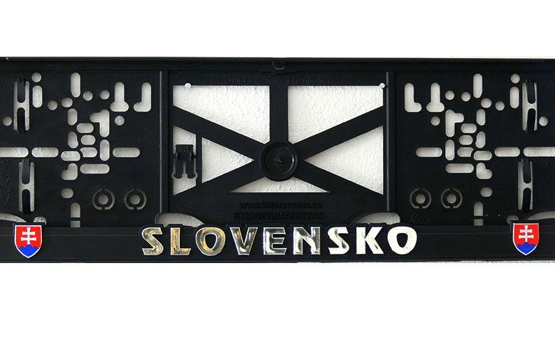 3D držiak ŠPZ SLOVENSKO (2ks)