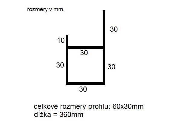 Rohový profil bočnice Pongratz - Ľavý zadný (1ks)
