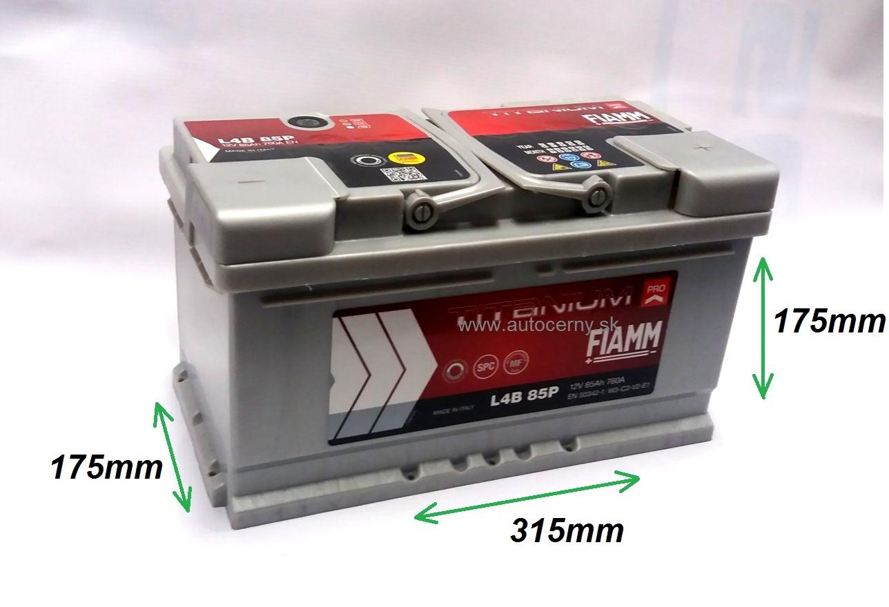 Fiamm Titanium 12V/85Ah 760A (L4B 85P)