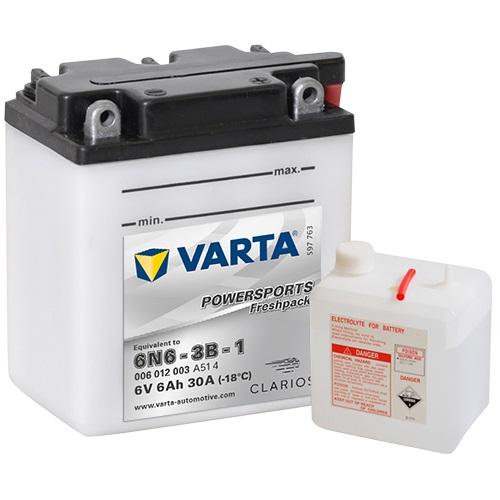 6V/6Ah 30A Varta 006012003