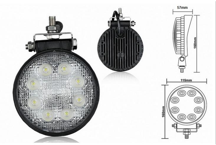 Pracovné svetlo LED 24W 12-24V okrúhle (max7977) 1ks