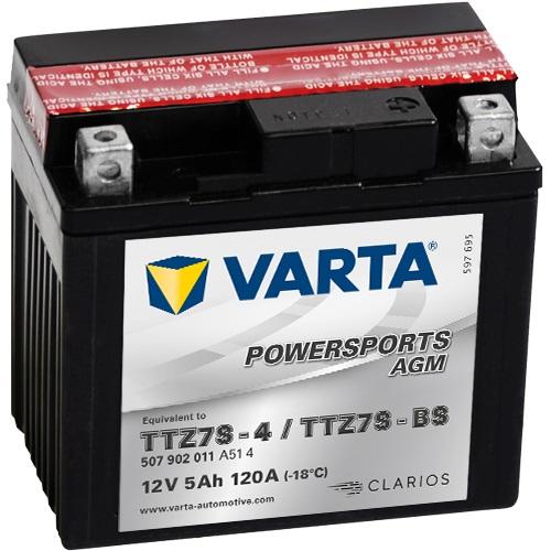 12V/5Ah 120A Varta 507902011 AGM