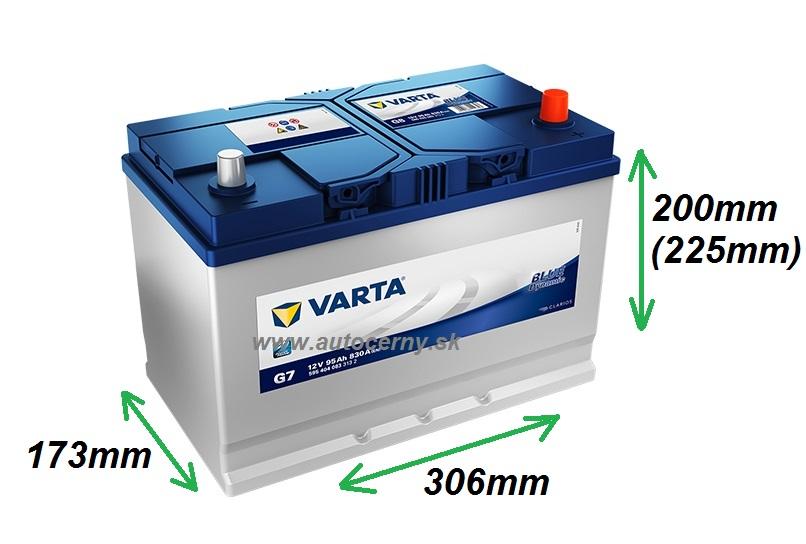 Varta Blue 12V/95Ah - 830A AZIA TYP - PRAVÁ (595404083) G7