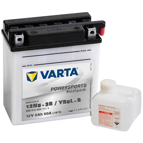 12V/5Ah 30A Varta 505012003