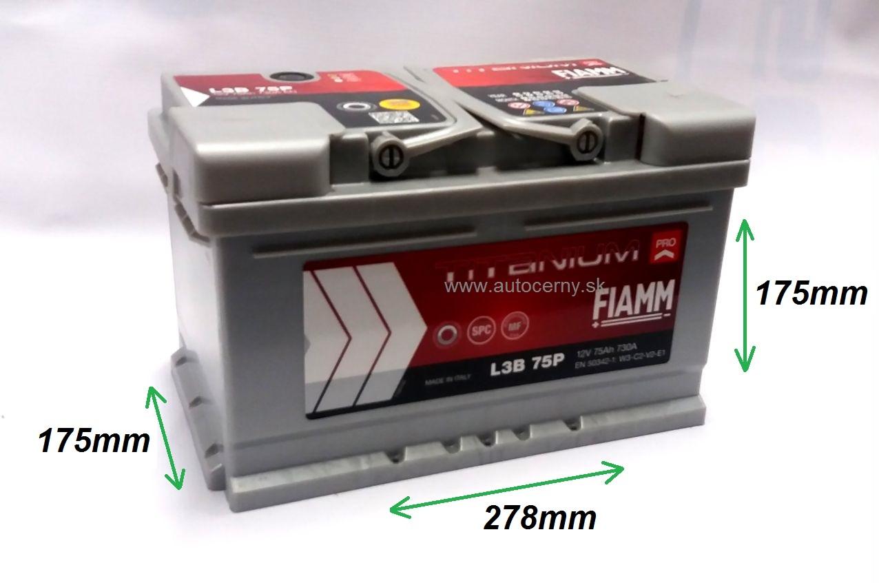 Fiamm Titanium 12V/75Ah 730A (L3B 75P)
