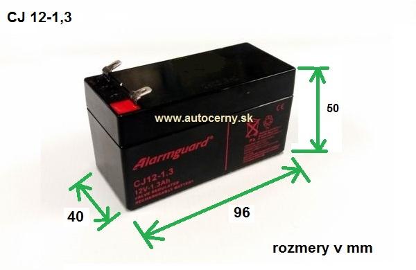 Záložná batéria CJ 12-1.3 (12V/1,3Ah) VRLA gelová