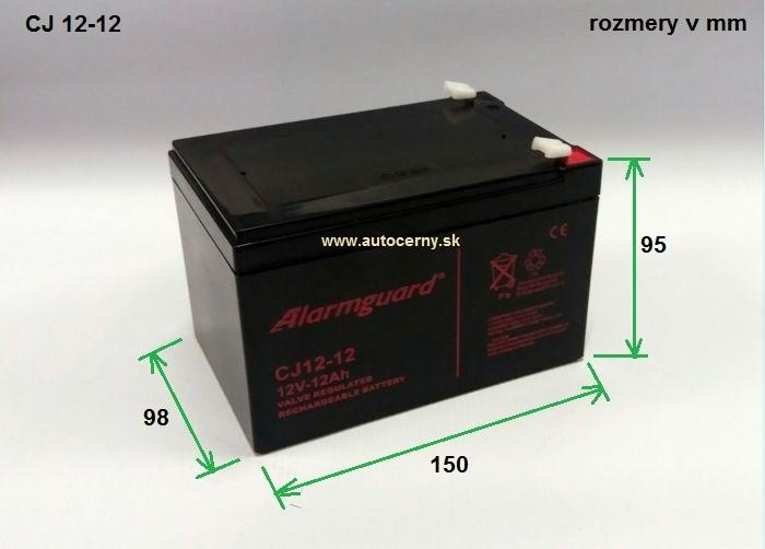 Záložná batéria CJ 12-12 (12V/12Ah) VRLA gelová