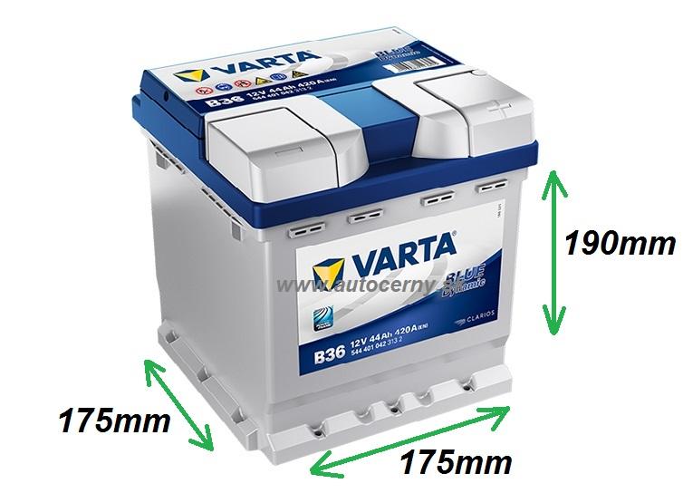 Varta Blue 12V/44Ah - 420A (544401042) B36