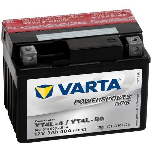 12V/3Ah 30A Varta 503014003 AGM