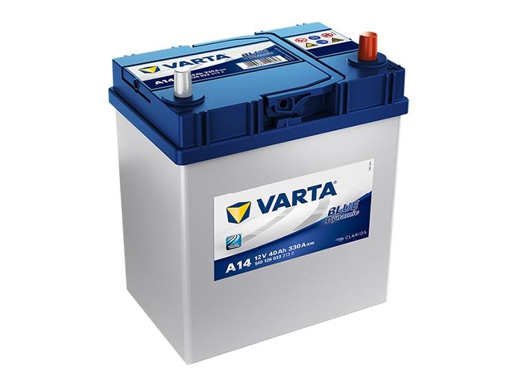 Varta Blue 12V/40Ah - 330A AZIA typ - PRAVÁ (540126033) A14