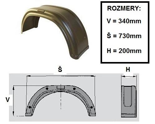 Blatník plastový AGADOS 13 šírka=20cm (1ks)