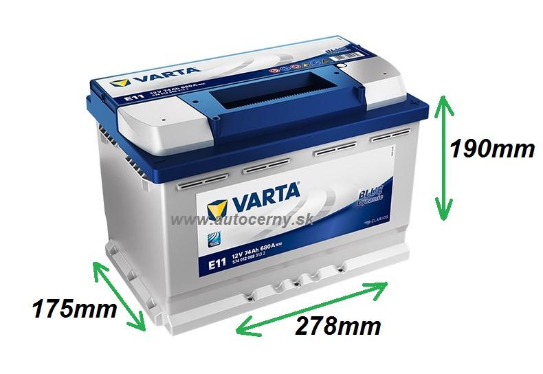 Varta Blue 12V/74Ah - 680A (574012068) E11