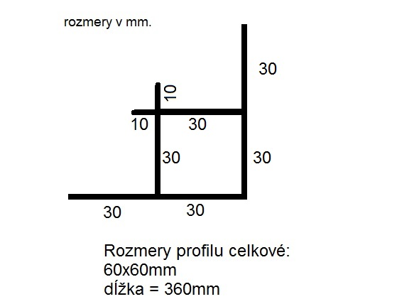 Rohový profil bočnice Pongratz - Ľavý predný (1ks)