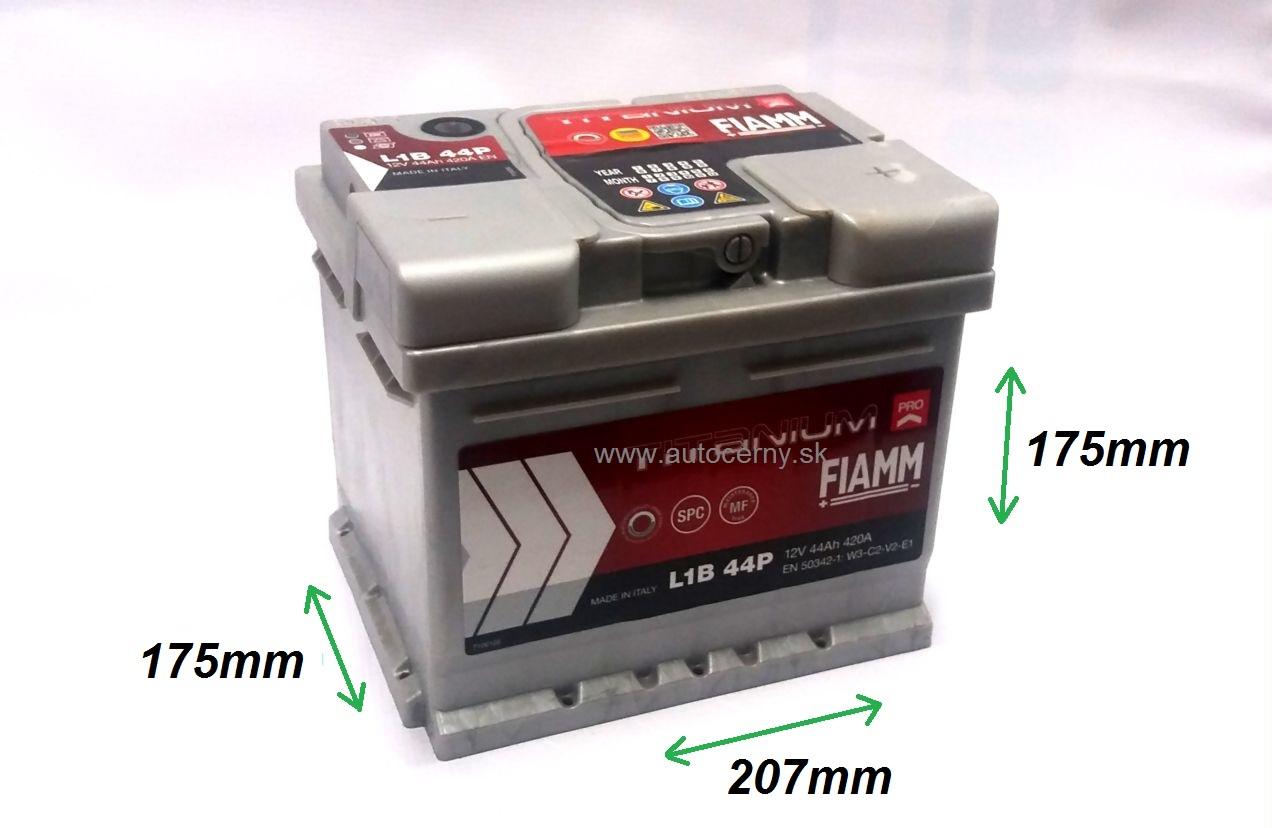 Fiamm Titanium 12V/44Ah 420A (L1B 44P)