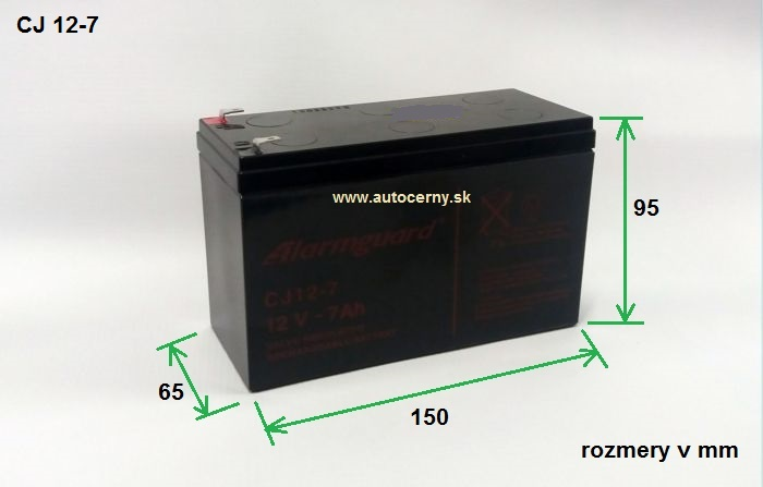 Záložná batéria CJ 12-7 (12V/7Ah) VRLA gelová