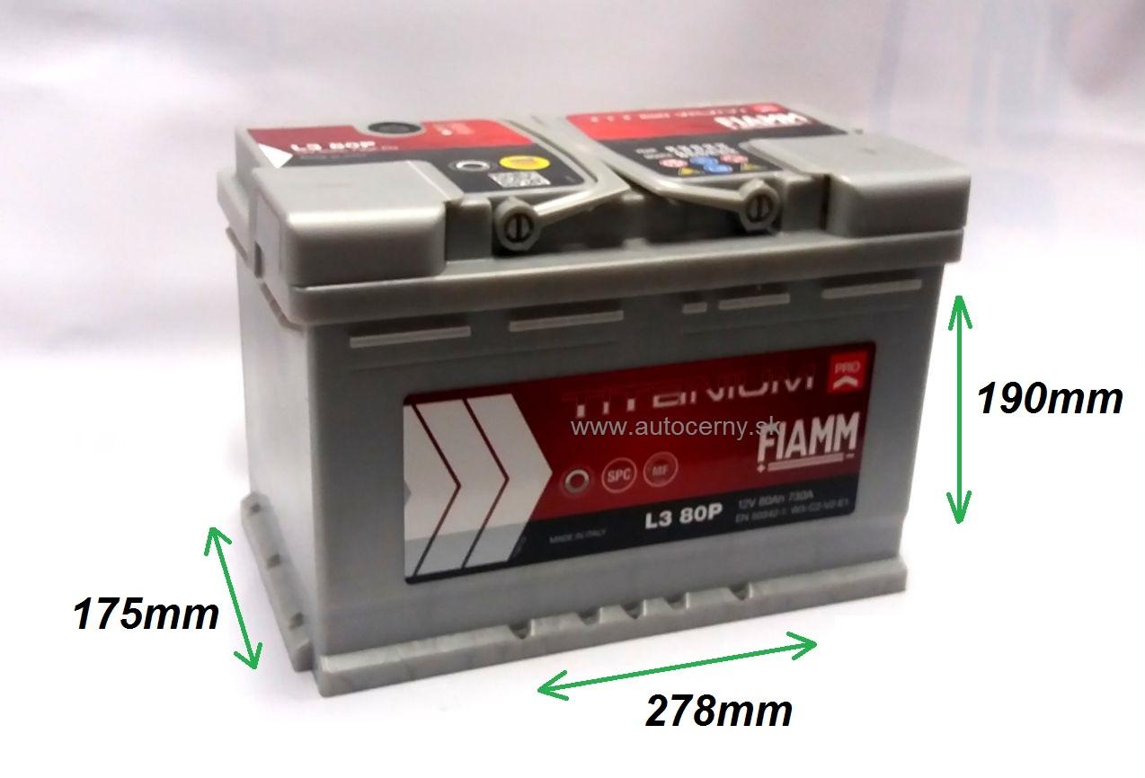 Fiamm Titanium 12V/80Ah 730A (L3 80P)