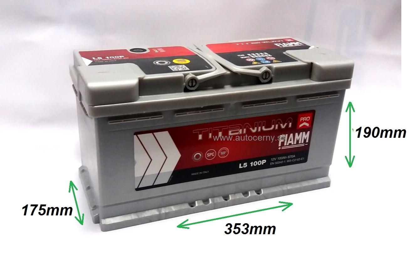 Fiamm Titanium 12V/100Ah 870A (L5 100P)