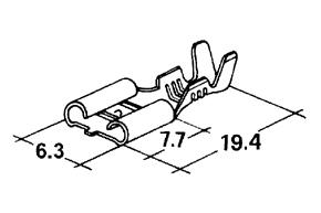 Dutinka 6,3mm (plochý konektor)  1bal. = 10ks