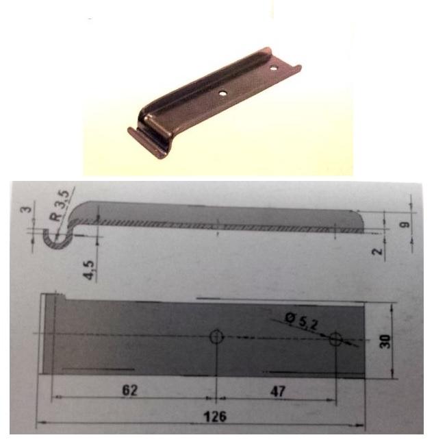 Háčik k uzáveru Steelpress (1ks) - nízky  (Agados)