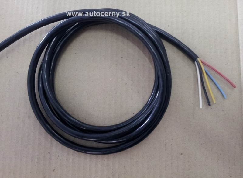 Kábel 5-žilový 5x0,75mm (metráž 1ks=1m)