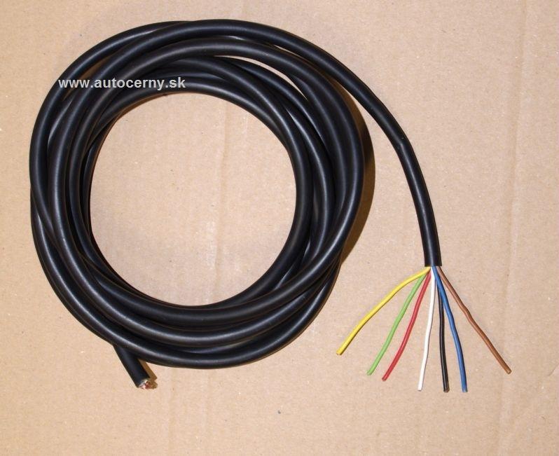 Kábel 7-žilový 7x0,75mm (metráž 1ks=1m)