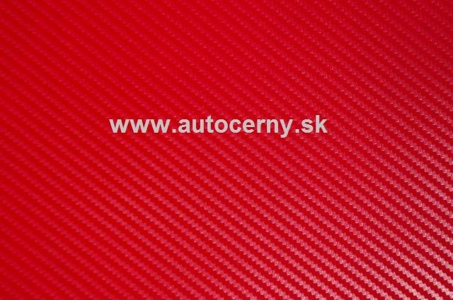 Karbonová fólia Červená 150x300cm