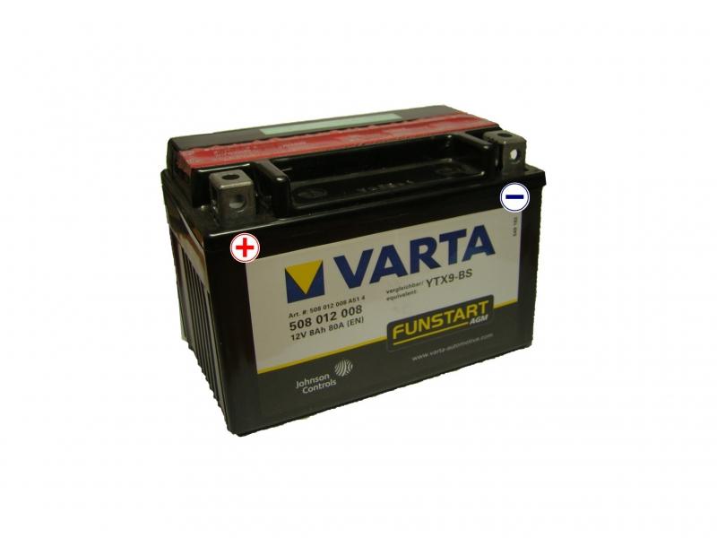 12V/8Ah - 80A **508 012 008** AGM