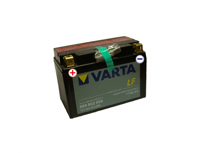 12V/9Ah - 80A **509 902 008** AGM