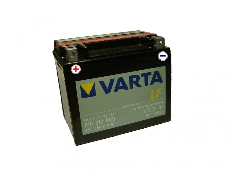 12V/10Ah - 90A **510 012 009** AGM