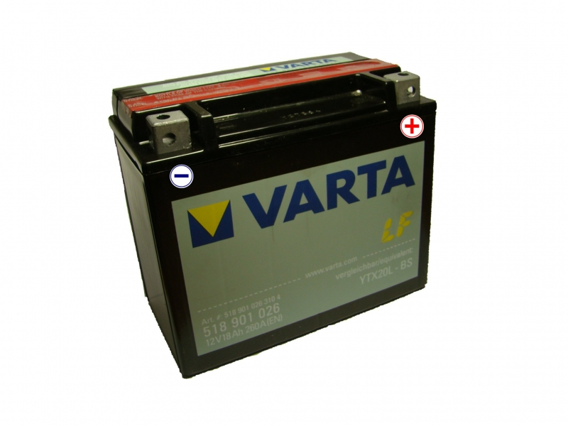 12V/18Ah - 260A **518 901 026** AGM