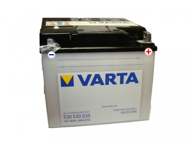 12V/30Ah - 300A **Moto 530 030 030**