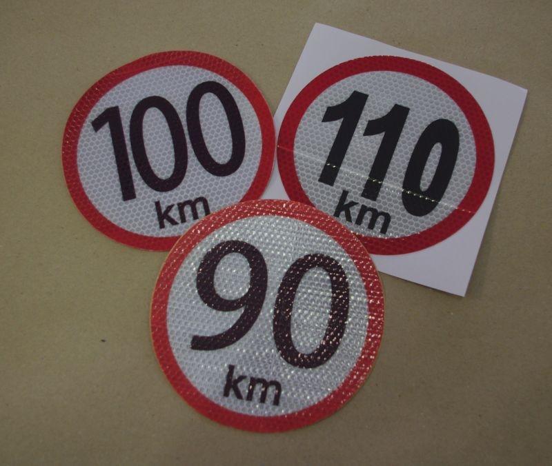 100km/h - reflexná nálepka rýchlosti (1ks)