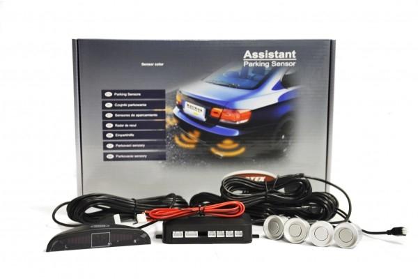 Parkovacie senzory 4ks + LED - strieborné