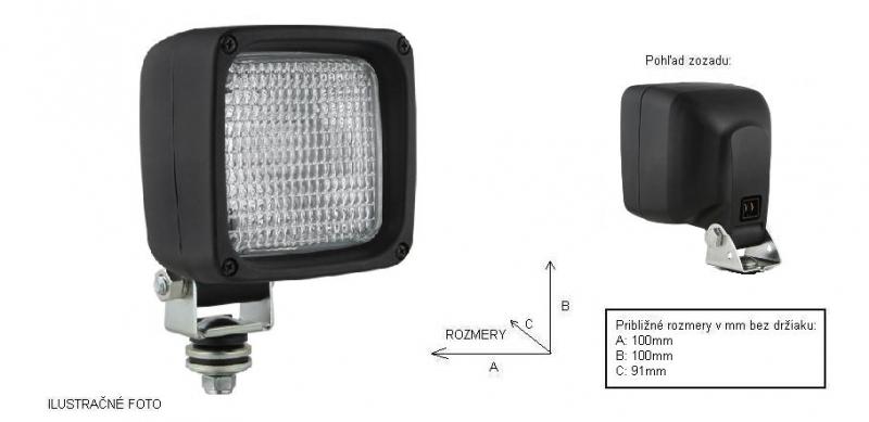 WESEM - pracovný reflektor 105x105mm (1 ks)