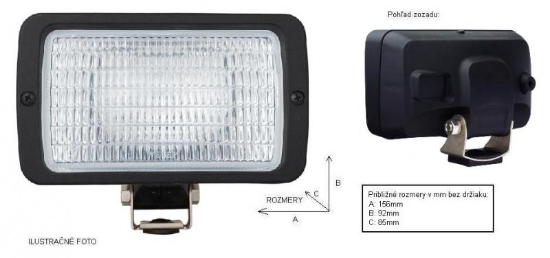 WESEM - pracovný reflektor 156x92 (1 ks)
